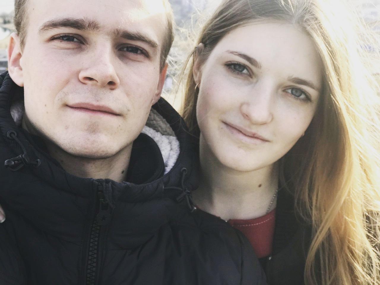 Ларин и его девушка 2017